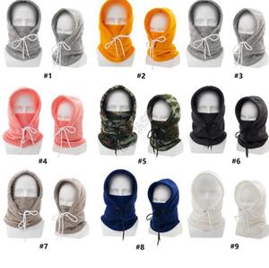 Дизайн Зимний Теплый родитель-ребенок Вязаные шапки Воротник Взрослые Дети ветрозащитный Открытый лыжах Hoods Caps Ear Face Protection Вязаные шапки D102801