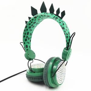 Dinosaure Enfants Headphones Écouteurs câbles filaires Écouteurs 3.5mm Écouteur de survolement pour l'apprentissage
