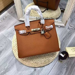 Head Layer Cowhide Litchi Grain Portable Leather Handbag Casual One Girls Women Shoulder Bags Inclined Bag The handbags