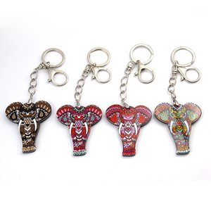 Charm Pendant Lucky Elephant Key chains Key Ring Bag Purse Buckle Car Keys Holder Jewelry Gift For Women Men1