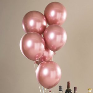 5Factory direct 10 inch metal latex balloon 1.8g thick pearlescent metal ball wedding party decoration birthday decoration balloon