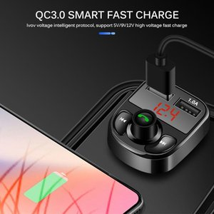 Car Bluetooth 5.0 FM Transmitter Wireless Handsfree Audio Receiver Auto MP3 Player 3.1A Dual USB Fast Charger Car Accessories