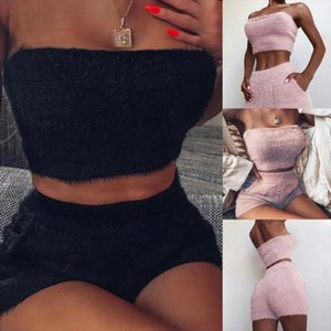 NEW Women Crop Top Short Pants Bodycon Evening Cocktail Party Two Piece Set Dress Fashion Casual Sexy Off Shoulder Slim Lady Set