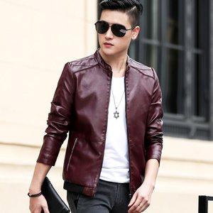 Mens Jacket 2020 Winter New Men Faux Leather Jacket Motorcycle Men's Jackets Outwear Male PU Leather Coats