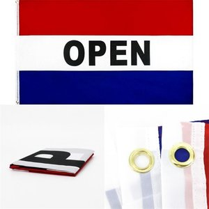 90x150 cm Open Flag Advertising Mark Flags 5x3 FT Flying Hanging Polyester Banner with Two Eyelets 44 L2