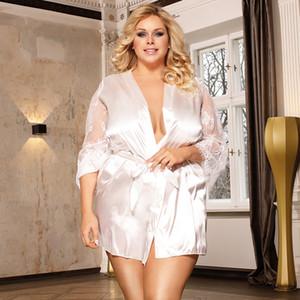 Frauen Schlaf Pyjamas Sexy Spitze Plus Größe Unterwäsche Feste Farbe Abend Nacht Nachtwäsche Vestioes Damen Designer Kleidung