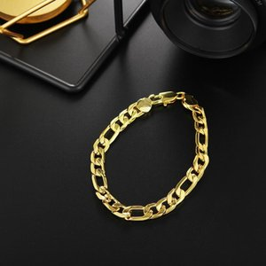 20cm Silver Solid 8mm Chain Classic Women Cute Men Women Bracelets High Quality Fashion Jewelry Christmas Gifts H200 H bbytVp