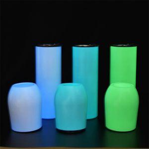 Sublimation 12oz Luminoso Vino Tumbler Sublimation Blanks Vino in acciaio inox Acciaio inossidabile Tumbler Doppia parete Aspirapolvere Tazza A02