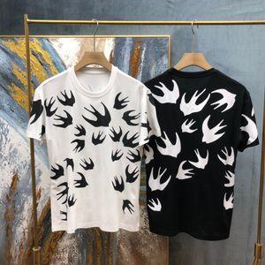2020SS Primavera e estate Nuova stampa di cotone di alta qualità T-shirt a manica corta a manica corta T-shirt T-shirt: M-L-XL-XXL-XXXL Colore: Black White O1K