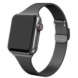 Bracelet milanais pour Apple montre SE 6 5 4 3 2 44mm 40mm 38mm 42mm Métal Dragonne pour iWatch Slim Accessoires Watchband