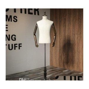 Shipping! Maquiagem Torso Professional Ww Body,Hairdresser,Male And Female Half-Length Suit Clothing Display Mannequins Hand Exh5B