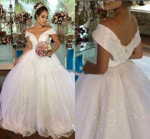 2021 Luxury Sparkly Evening Dresses Sequined Sparkly Church Dubai Gowns Lace Up Back Plus Size robe de mariée