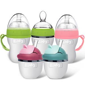 150ML Baby Breastmilk Bottle Wide Neck Soft Silicone Feeding Weaning Milk Container Children Mamadeira Nipple Bottle Newborn Feeding