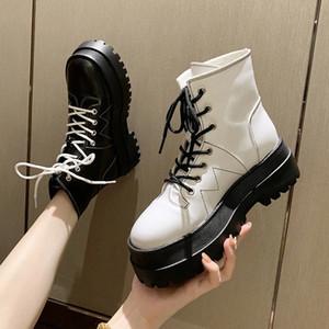 Mulheres Helsea Botas Moda Plataforma Botas de Tornozelo Senhoras Sapatos Curto Boot Feminino Baixo Saltos Moda 2020 Outono Botas Mujer # Qw6u