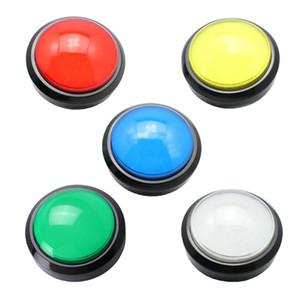 DIY Arcade Oyun Makinesi için mikrosviç LED 100mm Büyük Yuvarlak Düğmesi