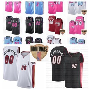 2020 finales de Jimmy Butler 22 Tyler sur mesure Bam Herro Goran Dragic Dwyane Wade Adebayo MiamiChaleur14 Basket-ball du sport Jersey