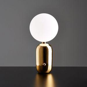 Free shipping desk lamp Nordic fashion bedside desk lamp personalized decoration living room lighting send led light source