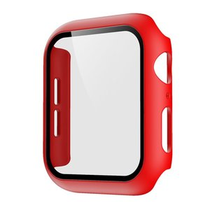 For apple watch case smart watch case 40mm 44mm Cover 360 Full Screen Protector Bumper PC Case With Tempered Glass apple watch band