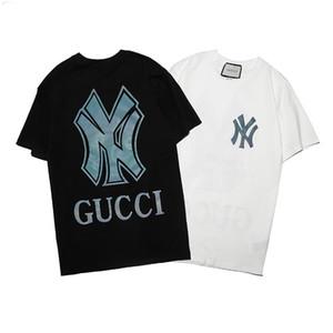 Mektuplar ile Moda Erkek Tasarımcılar Tişörtlü Casual Erkek Gevşek lüks Tees Kısa Kollu Üst lüks Erkek T Shirt Size M-XXXL Sat yazdır