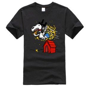Alla trucco casuale bizzarro Plain Graphic T-shirt T delle parti superiori su misura per gli uomini Designers T shirt da uomo con cappuccio grafica