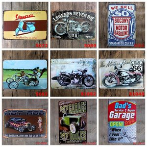 Motorcycles Metal Plate Vintage Garage Tin Signs Plaque Poster Iron Plates Wall Stickers Bar Club Wall Home Decor 39 Designs Yw3190
