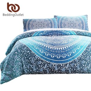 BeddingOutlet 3 Pieces Comforter Set Crystal Quilt Set with Pillowcase Bed In a Bag Bohemia Printed Bedclothes Queen Size