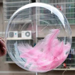 50pcs No Winkles Ballons PVC transparents 10/18 pouces Bubble Clear Bubble Globos de mariage Globos de mariage Décor Helium Ballons Ballons Kid Jouets Ballon