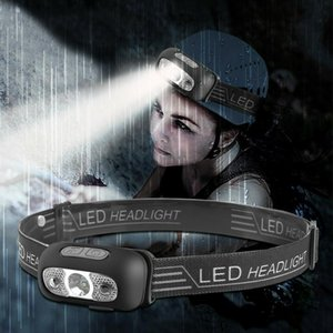 LED Headlamp USB Rechargeable Head Light Head Lamp Torch Waterproof Led Strobe Fishing Camping Light Headlamp