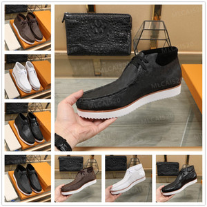2021 Luxurys Designers Mods Ankle Boots Sneakers Top Grain Couro Homem Mulheres High Shoes Ebony Clássico Factors Causal Tamanho38-44 #