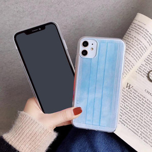 TPU mobile phone shell Cover Creative mask phone case for iphone11 pro max 7 8 plus X XR XS Max SE