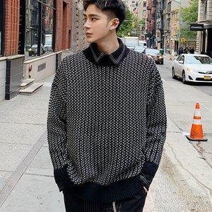 2021 Ünlü Web Erkek Kış Yeni Koreli Gençlik Yuvarlak Yaka Yarım Balıkçı Yaka Yüksek Moda Ceket. Favan