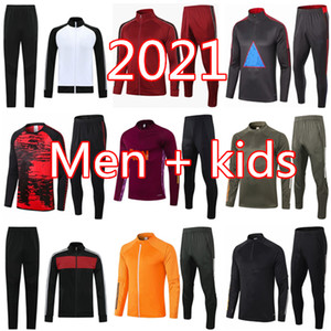 20 21 Manchester Training Suit Men Bambini Martial Rashford SurvedeSement Football Jacket Sportswear Jogging 2020 Pogba United Soccer Tracksuit