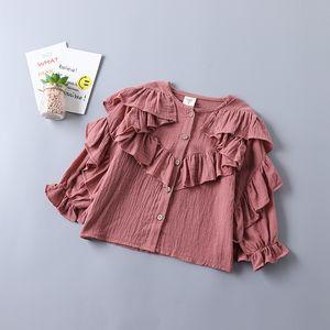 20202 Frühling-neuer Modell Anzug Mädchen Solid Color-Shirt + Jeans Kinderkleidung Kinderkleidung