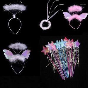 Angel Halo головы носить звезды повязки волшебные палочки палочки свадьбы шоу подарок вечеринка Halloween детская принцесса девушки рождество1