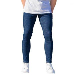 Casual 100% cotone Denim Men Basic Indigo Jeans uomo nuovo stile buon prezzo migliore prezzo all'ingrosso tendenza 20211