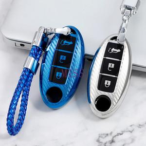 car goods TPU Carbon Fiber Pattern Car Key Cover Case for Nissan X-Trail Juke Alissa Qashqai Micra Cube Leaf J11 Pulsar C13 accessories