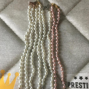 Pendentif Boutique pleine de la chaîne perle de diamant dames de la chaîne clavicule collier de chaîne de mode accessoires bijoux de haute qualité