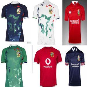 20 21 Inghilterra e Ireland Lions Lions Camicia da rugby League International League Home National Team Lions Olive Donne da uomo Ball Jersey
