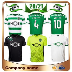 20/21 Sporting Lisbonne 3e maillots de football 2020 Accueil Vietto COATES ACUNA PHELLYPE football Chemises Jovane ROSIER Battaglia Football uniforme