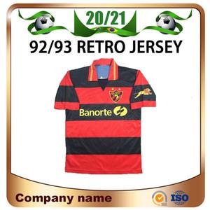 92/93 ретро версия спортивный клуб Do recife Soccer Tehenss Mailoots de Foot с коротким рукавом рубашка футбольная форма