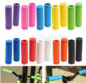 Rubber Bike Handlebar Grips Cover BMX MTB Mountain Bicycle Handles Anti-skid Bicycles Bar Grips Fixed Gear Parts GH040
