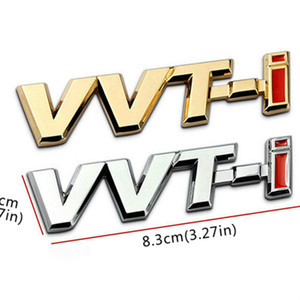 3D Metallo VVTI VVT-I Emblem Badge Autoadesivo per carrozzeria per Toyota Corolla Vios Camry 2008 Rav4 Yaris Chr C-HR Avensis Auris Prado