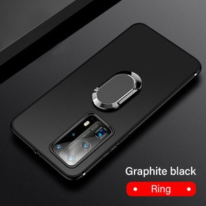 Ultra-thin Magnetic Holder Silicone Phone Case For Huawei P40 P30 P20 Lite Mate 30 20 Pro Honor Stand Finger Ring Bracket Cover sqcSNA