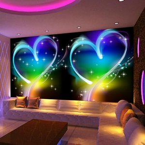 Custom 3D Mural Wallpaper Modern Simple Personas Love Heart Dreamland KTV Bar Decorative Background Photo For Walls 3d