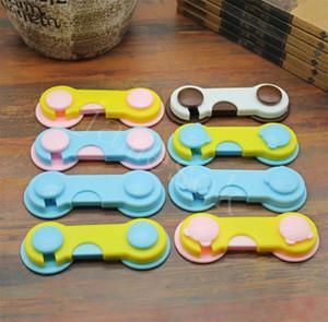 16 Estilo Plástico Cerradura Cerraduras Seguridad Cerraduras de Seguridad Bebé Cajas Latches Color Candy Color Frigorífico Armario Cerradura Dispositivo de protección para bebés DB433
