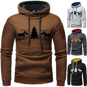 Peace Deer Sweats Hoodies Mens Noël Pull à manches longues Pull à capuche Sweatshirts automne hiver Casual Hommes Vêtements 3XL