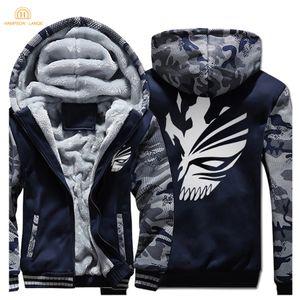 Hampson Lanqe Japón anime Bleach Kurosaki Ichigo Harajuku la camiseta de los hombres calientes del invierno 2019 más el tamaño de paño grueso y suave de los hombres espesa los hoodies