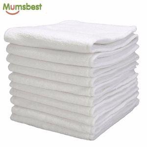 [MumsBest] 10 pcs lavável fraldas de pano de bebê reutilizável fraldas inserções de fraldas microfibra 3 camadas 201117