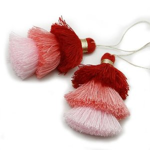 1 pz 75mm 3 colori Poliestere nappa Trims Cotton Silk Nappa Trim per la decorazione domestica FAI DA TE Accessori per tenda per cucire H Jllenx