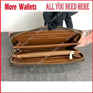Incrível Qualidade luxurys Designers Zippy Carteira de couro real das mulheres cartão de crédito Carteiras Titular da chave longa dos homens Carteira Coin bolsas Titular